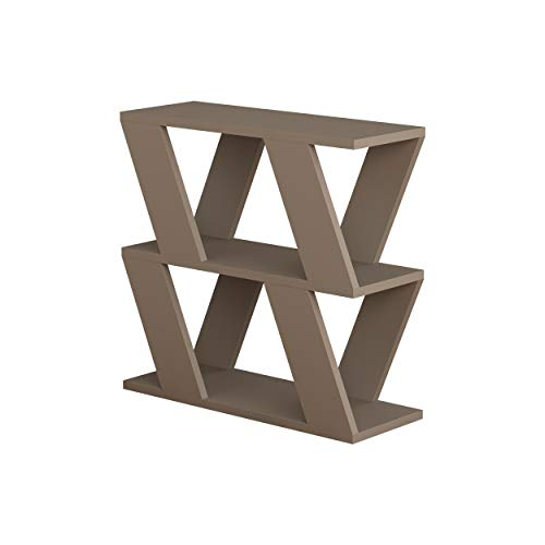 Hocuspicus Side Coffee Table with Magazine Rack for Living Room and Office - Many Colour Options - Side/End Table - 60 x 22 x 57cm (Light Mocha)