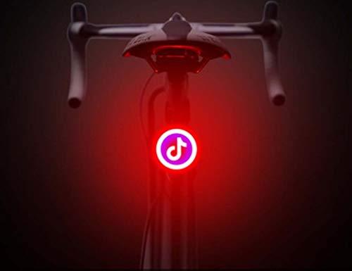 STRIDCJX fietslamp met dubbele flits, knipperlicht, fietslamp, USB-opladen, led-fietslamp, stroboscooplicht, voor mountainbike-palen, N