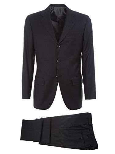 Kiton Luxury Fashion Herren K02N1303 Schwarz Wolle Anzuge | Frühling Sommer 20
