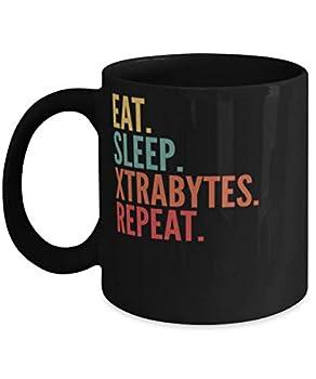Xtrabytes Crypto Eat Sleep Xtrabytes Repeat Mug 11oz black