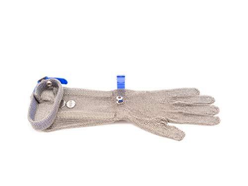 meshFlex Stechschutzhandschuh blau, Größe L (9), beidseitig tragbar, Stulpe 20 cm