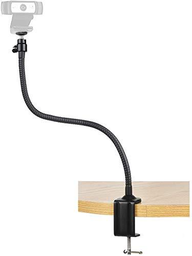 Soporte para cámara webcam - 25 pulgadas de cuello de cisne Mesa de abrazadera para cámara web C920s C920 C930e C922x C930 C922 C925e C615 Brio brazo de montaje de cámara