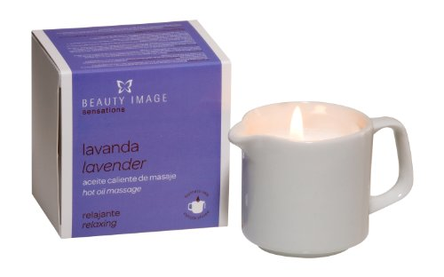 Beauty Image Lavender Hot Oil Body Massage Candle