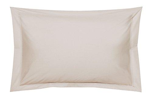 Blanc des Vosges Uni Percale Taie Coton Lin 50 x 75 cm