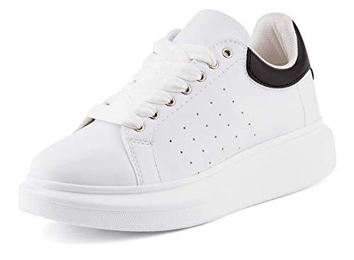 Fusskleidung Herren Sneaker Casual Halbschuhe Designer Freizeit Plattform Schuhe EU Weiß 40