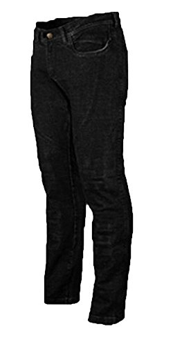 Ladies motorfiets jeans CE Knee Armoured KEVLAR Stretch Denim 18 short BLACK