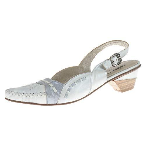 J. Metayer damesschoenen sandalen met hak Paies wit zilver 43174688