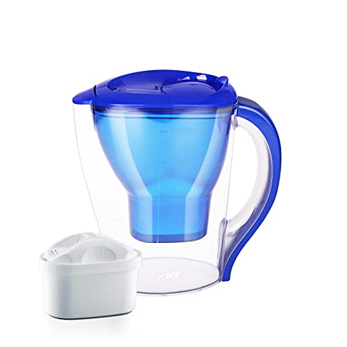 Water Filter Pitchers for Drinking Water,Food Grade,BPA Free,Compact Design 10 Cups, Lower More Than 200 Kinds of Unhealthy substances.Blue…