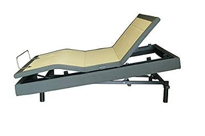 "DynastyMattress New! D7500s Adjustable Bed, Elevation Lift, Quad Massage, Underbed Light, USB Port, Zero Gravity (Queen, 14"" CoolBreeze Gel Mattress)"