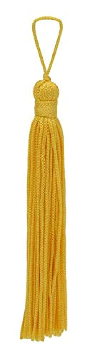 Set of 10 Flag Gold Chainette Tassel, 4 Inch Long with 1 Inch Loop, Basic Trim Collection Style# RT04 Color:Flag Gold - FG