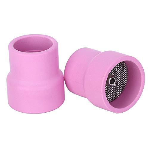 Copa de soldadura, 2 piezas de copa de soldadura de cerámica para Furick para antorcha de soldadura refrigerada por aire de la serie WP-9/20/25# 12