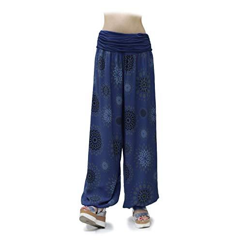 Gloop Pantalones de harén Ligeros XXL para Mujer Pantalones de Verano con Muchos Patrones