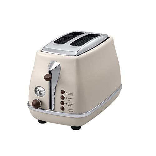 ZHongWei - Toaster Toaster, Toaster 2 Stück Retro Toaster Home Toaster Automatik Fünf Betriebsarten, Edelstahl-Staubschutz, Blau Frühstücksmaschine (Color : Beige)