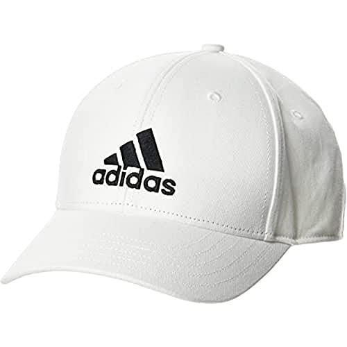 adidas Baseball Cotton Twill Kappe, White/White/Black, OSFC