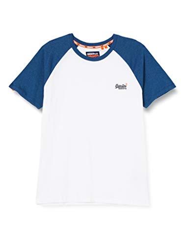 Superdry Herren OL Classic SS Baseball Tee T-Shirt, Weiß (Optic 01C), XX-Large