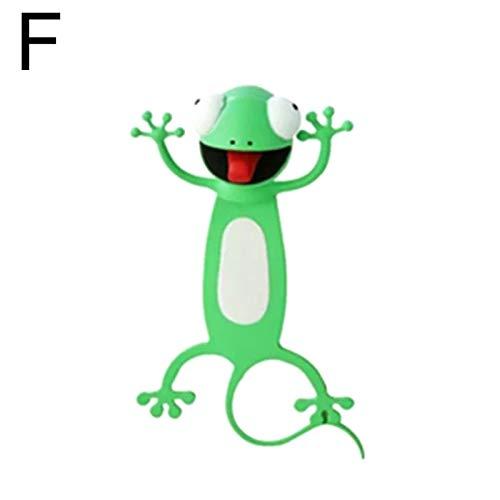 Vtops Wacky Bookmark for More Fun Reading 3D Stereo Cartoon Lovely Animal Bookmark Wacky Bookmark