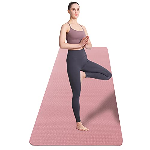 """UMINEUX Extra Wide Yoga Mat for Women and Men, 72""""x 32""""x 1/4"""", Eco-Friendly TPE Yoga Mat Non Slip, Large Workout Mats,Perfect for Barefoot Exercise (Yoga, Pilates, Fitness, Meditation)"""