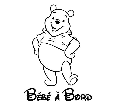 Adesivo per neonato a bordo, motivo: Winnie the Pooh (bianco)
