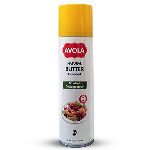 GAS-FREE BUTTER FLAVOR Cooking Spray - Aerosol-Free, Gluten-Free, Vegan, Kosher - 5 fl oz (150 ml)