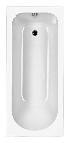AquaSu I Acryl - Badewanne meLeo I 170 x 75 cm I Weiß I Wanne I Badewanne I Bad I Badezimmer