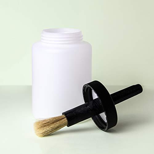 Praktische Pinseldose zum einfachen Auftragen von Flüssigkeiten wie Farben, Lacke, Kleber, Schmiermittel