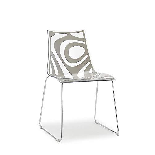 Scab Set 2 Design Wave Chaise Pied traîneau Sable-Transparent