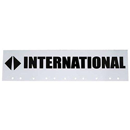 "AeroPro International Trucks Black & White 6"" x 24"" Semi Truck Mud Flap-Quarter Fender Flaps"