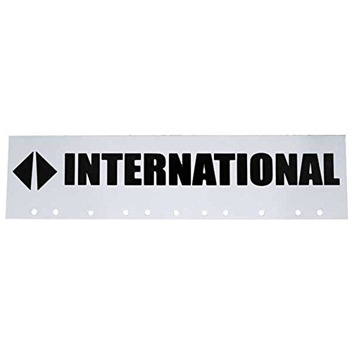 "AeroPro International Trucks Black & White 6"" x 24"" Semi Truck Mud Flap-Quarter Fender Flaps"