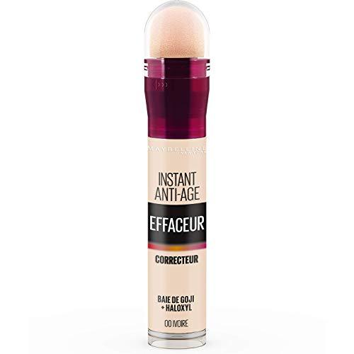 Maybelline New York - Anti-cernes/Correcteur Fluide - Instant Anti-Age L'Effaceur - 00 Ivoire -...