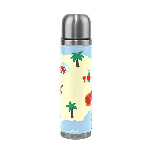 ALINLO Sangria Spanje Kaart Roestvrij Staal Water Fles Vacuüm Thermos Cup Lek Bewijs Geïsoleerde Reizen Koffie Mok 17 oz