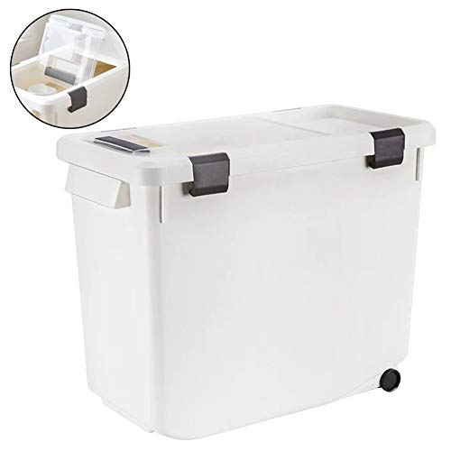 ZWW luchtdichte huisdier voedsel opslag container, vochtbestendige vouwen Flip plastic emmer Geschikt voor diervoeder/rijst/keukenkorrel 5L