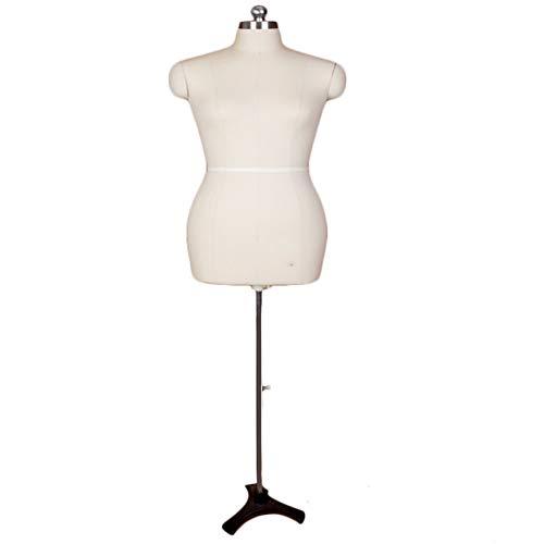 ZAQI Maniqui Costura Modista Busto Maniquí de Coser XL para Mujer, Vestido de Talla Grande con trípode, escaparate para el hogar, escaparate, escaparates, decoración (Color : White)