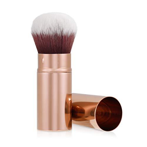 pennelli make up kabuki fondotinta Navaris Pennello Kabuki Make-up Professionale - Pennellino Trucco Viso Retraibile - Applicazione Fondotinta Fard Terra Cipria Illuminante - Rame
