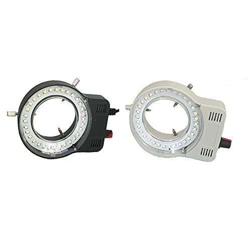 SUNTAOWAN Lámpara de luz de Anillo Ajustable de Salida USB 110V-240V 32 LED para microscopio de Video estéreo Microscopio Lupa de cámara Industrial (Color : with Adapter Black)