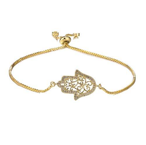 JEFEYI Nuevo diseño de Moda Oro/Oro RosaMano de Fátima Colgante Collar para Mujeres Hombres Moda joyería turca al por Mayor