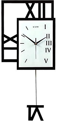 HCYY Reloj de Pared Reloj Sala de Estar Moderno Minimalista Creativo Mudo Columpio Mesa Colgante Jane Personalidad Europea Dormitorio Reloj de Cuarzo nórdico (Tamaño: 40 * 93 cm) Reloj de decorac