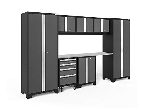 NewAge Products Bold Series Gray 8 Piece Set, Garage Cabinets, 50404