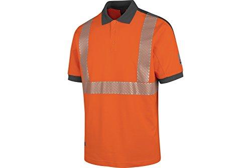 WÜRTH MODYF Warnschutz Poloshirt Neon EN 20471 2 orange anthrazit: Das zertifizierte Poloshirt aus der German Design Award Winner Kollektion 2019.