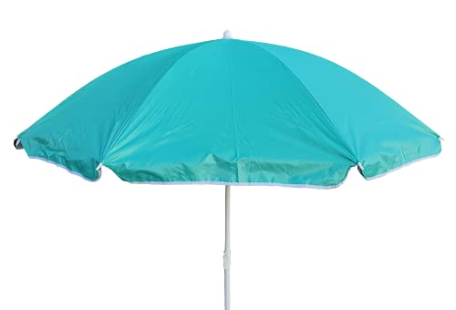 Meinposten Sonnenschirm Ø 138 cm Strandschirm Schirm mit 3 Haken Strand Urlaub UV Schutz (Grün)