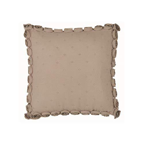 Blanc Mariclo' Cuscino Rosa Quadrato con roselline Laterali 45x45 cm A2956099BG