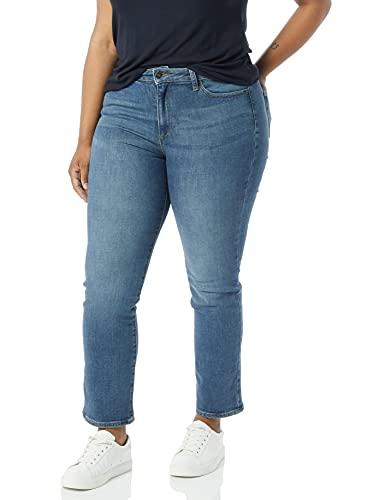 Amazon Brand - Goodthreads Women's High-Rise Slim Straight Jean, Authentic Blue 24
