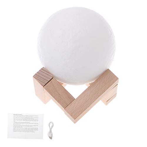 12 cm impresión 3D Luna lámpara 2 color cambiante táctil sensor lámpara de escritorio USB carga LED noche luz decoración del hogar led luces decorativas