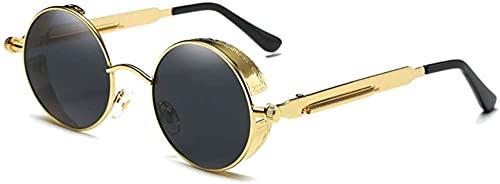 Gafas de sol polarizadas con marco grande, diseño de personalidad de moda, color dorado, plateado, negro, para mujer, color (color: plata) y dorado