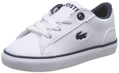 Lacoste Lerond BL 2 CUI, Zapatillas Unisex niños, Blanco (White/Navy), 24 EU