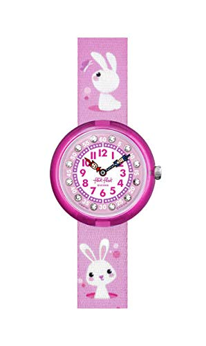 Flik Flak Mädchen Analog Quarz Uhr mit Kunststoff Armband FBNP143