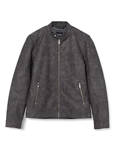 Only & Sons ONSJASPER PU Jacket OTW Vd Chaqueta, Gris (Grey Pinstripe), L para Hombre