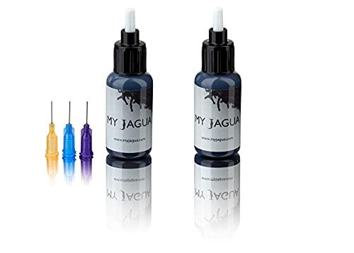Jagua Gel (30 ml) + 3 Aufsätze | temporäre blau-schwarze Tattoos | natürlich | Henna