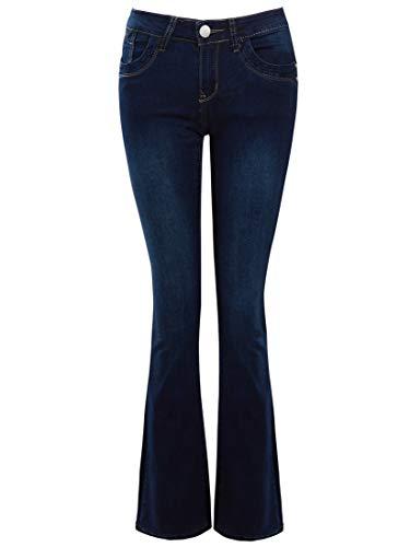SS7 Womens Slim Fit Bootcut Jeans con vita bassa Indaco 44