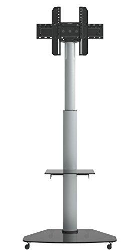 Dynamic Wave MoTV-700 LED LCD TV Ständer mobiler Standfuß höhenverstellbar Trolley, 180cm hoch, 70 Zoll Diagonale, rotierbar 90 Grad, 42 47 55 60 & 63 Zoll für Samsung Philips Parkett Rollen