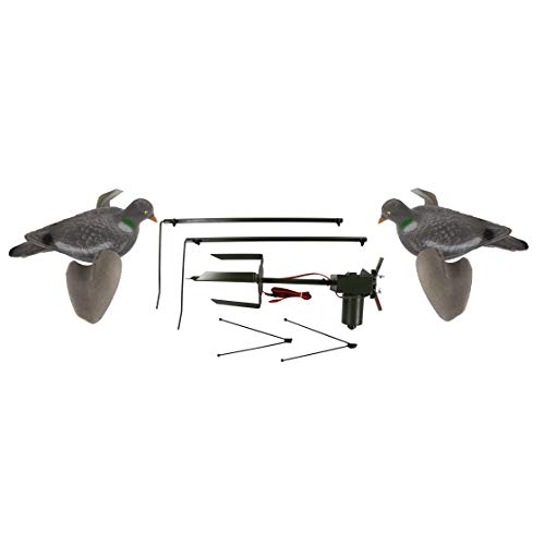 Riverside Outdoor Pigeon magnetico con 2x Air Pro Pigeon Decoys Rotary Machine esca shooting